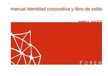 manual identidad corporativa y libro de estilo - Forem