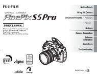 FinePix S5 Pro Manual - Fujifilm