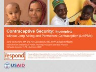 Contraceptive Security - International Conference on Family Planning