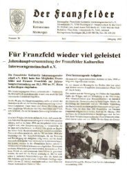 Ausgabe 20 hier herunterladen - Die Franzfelder