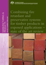 Combining fire retardant and preservative systems for timber ...