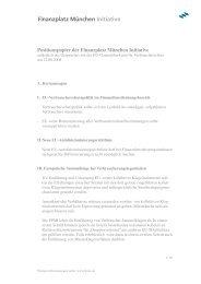 Positionspapier der Finanzplatz München Initiative