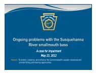 A case for impairment May 23, 2012 - Pennsylvania Fish and Boat ...