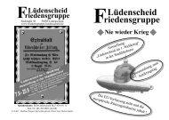 Nie wieder Krieg - Friedensgruppe Lüdenscheid