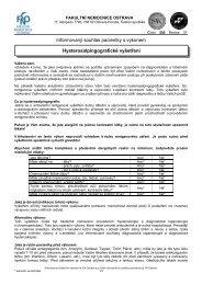 Hysterosalpingografické vyšetření - Fakultní nemocnice Ostrava