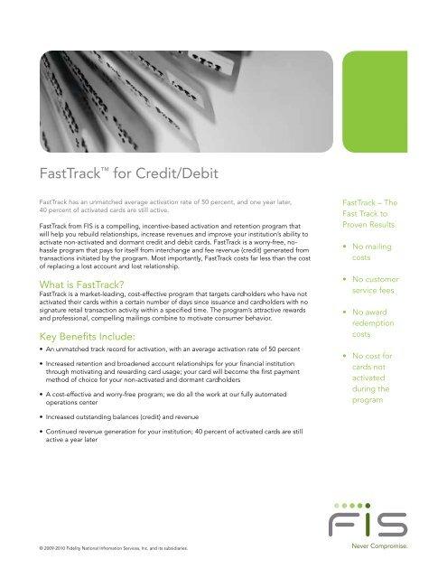 FastTrack™ for Credit/Debit - FIS