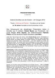 PR-Info-vdK_AC2012 - Galerie Dorothea van der Koelen
