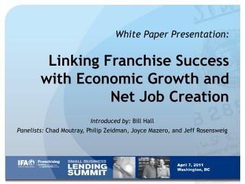 Linking Franchise Success with Economic Growth and Net Job ...