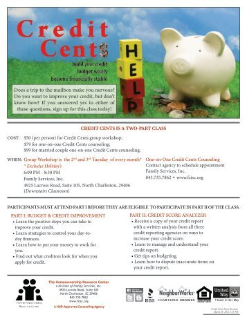 Credit Cents Registration Form (pdf) - Family Services, Inc.
