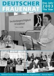 Jahresbericht 2003 - Deutscher Frauenrat