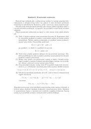 matematyka dla i roku nkf, 2003/2004.