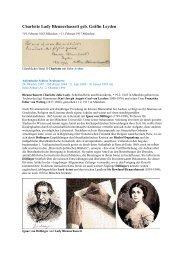Charlotte Lady Blennerhassett geb. Gräfin Leyden - Gästebücher ...