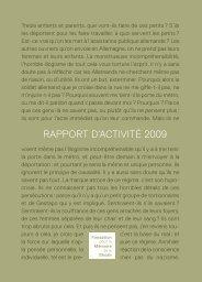 RAPPORT D'ACTIVITÉ 2009 - Fondation pour la Mémoire de la Shoah