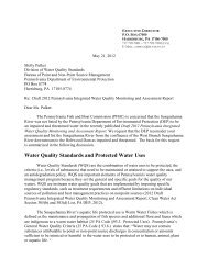 PFBC Comments on Draft 2012 Pennsylvania Integrated Water ...