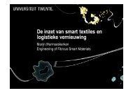 De inzet van smart textiles en logistieke vernieuwing - FTN