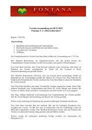 Protokoll der Vereinsversammlung am 28.11.2012