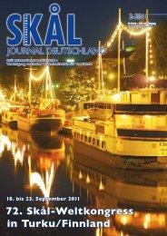 18. bis 23. September 2011 72. Skål-Weltkongress in Turku/Finnland