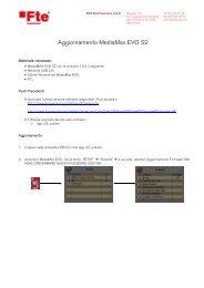 Aggiornamento MediaMax EVO S2 - FTE Maximal