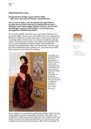 Husjomfruens kringle og grevindens kjole - Gammel Estrup