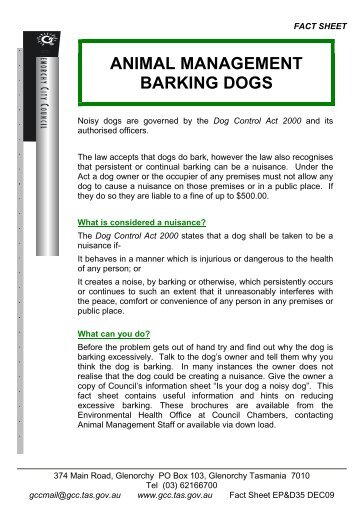 Frisco Barking Dogs