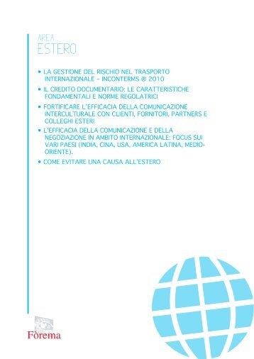 Corsi di Approfondimento Area Estero - Scheda PDF