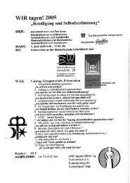 """Bericht der Tagungsleitung """"WIR tagen!2005"""" anlässlich - GBM"""