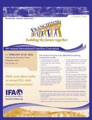 Conv 2006 Registration Form - International Franchise Association
