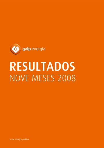 NOVE MESES 2008 - Galp Energia