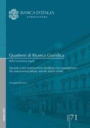 Quaderni di Ricerca Giuridica - Financial Risk and Stability Network