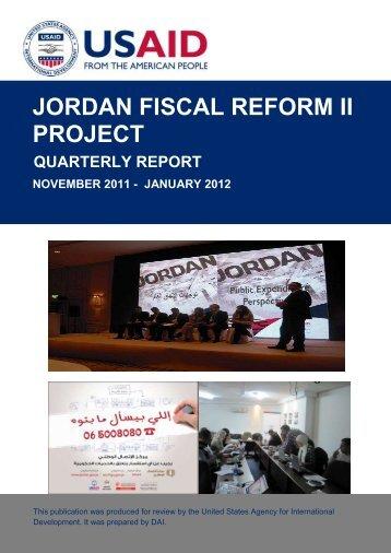 jordan fiscal reform ii project quarterly report november ... - Frp2.org