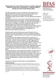 Stellungnahme der Freien Alternativschulen zur Studie ... - BFAS