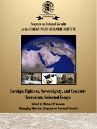 Foreign Fighters, Sovereignty, and Counter- Terrorism: Selected ...