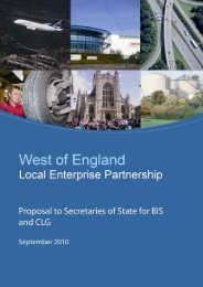 West of England Local Enterprise Partnership proposal