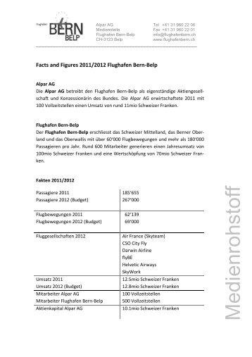 Facts & Figures 2011/2012 - Bern-Belp