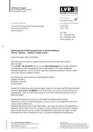 Einladung zum Einführungsseminar in Kürten-Breibach Thema ...
