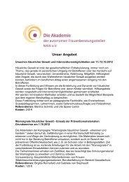 Übersicht über die Angebote 2012 - frauennrw.de