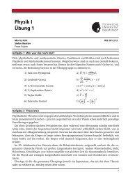 Physik I Übung 1