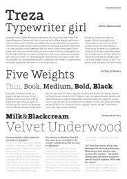 Treza Sample PDF - FontShop