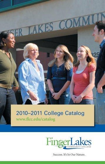 2010-2011 College Catalog - Finger Lakes Community College