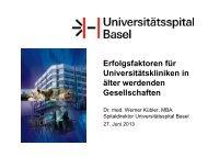 Dr. Werner Kübler - Forums Gesundheitswirtschaft Basel