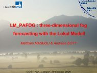 LM_PAFOG : three-dimensional fog forecasting with the ... - LCRS