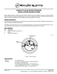 b350lp plug-in detector base installation instructions - Fire-Lite Alarms