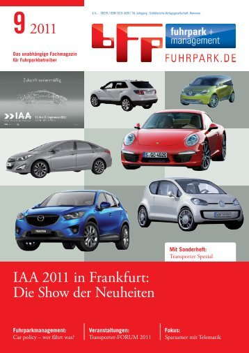 92011 IAA 2011 in Frankfurt: Die Show der Neuheiten - fuhrpark.de ...