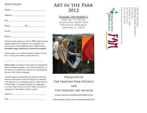 Art in the Park 2012 - Freeport Park District
