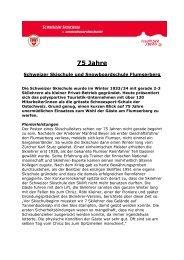 Kurze Geschichte der SSSF - Flumserberg