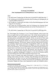 Friedrich Kümmel Erziehung als Konfliktfeld. Zum Ausgangspunkt ...