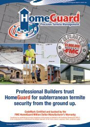 Professional Builders trust HomeGuard for subterranean ... - Garrards