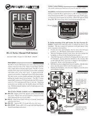 BG-12 Series Manual Pull Stations - Fire-Lite Alarms