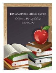 FUSD 2008-09 Retiree Memory Book - Fontana Unified School District