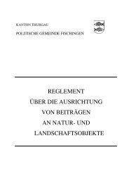 reglement über die ausrichtung von beiträgen an natur - Gemeinde ...